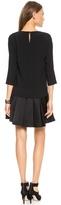 DKNY 3/4 Sleeve Drop Waist Dress