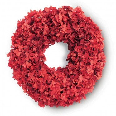 Viva Terra Red Hydrangea Wreath