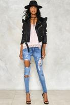 Nasty Gal Ripped to Shreds Skinny Jeans