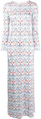 C'Est La V.It Eivissa floral-print maxi dress