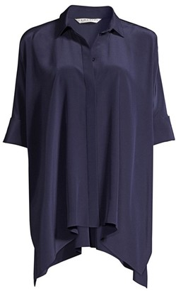 Trina Turk Barbados Silk Tunic Blouse
