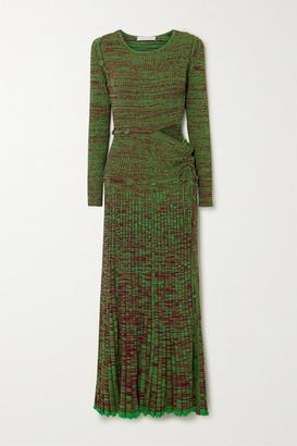 CHRISTOPHER ESBER Convertible Ribbed-knit Maxi Dress - Green