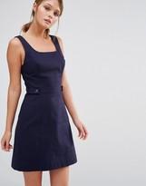 Oasis Pinafore Tab Dress