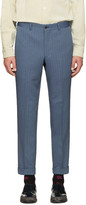 Comme des Garcons Blue Pinstripe Trousers