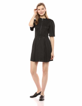 BCBGeneration Women's Front Zipper FIT N Flare Dress