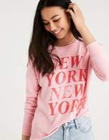American Eagle Outfitters AE NYC COLD SHOULDER SWEATSHIRT