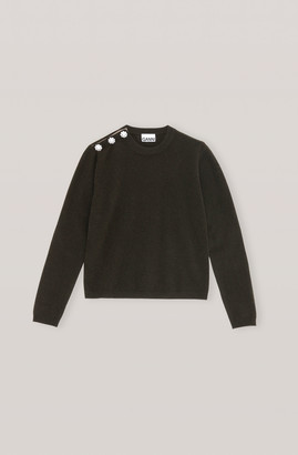 Ganni Cashmere Knit Pullover - Solid