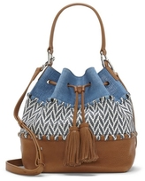 Vince Camuto Edena – Material-blocked Drawstring Bag