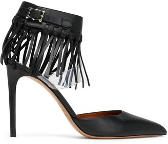 Valentino Garavani Fringed Leather And Pvc Pumps