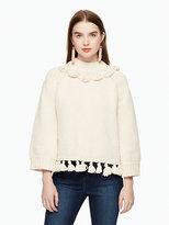 Kate Spade Tassel cotton slub sweater