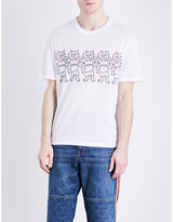 Stella Mccartney Cat-print Cotton-jersey T-shirt