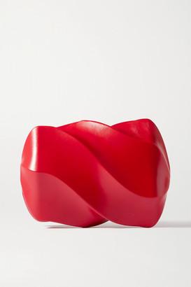 Bottega Veneta Candy Leather Clutch - Red
