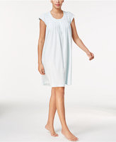 Miss Elaine Embroidery-Trimmed Smocked Nightgown