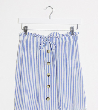 Wednesday's Girl mini skirt in stripe co-ord