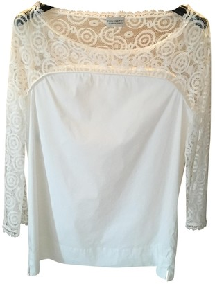 Philosophy di Alberta Ferretti White Cotton Top for Women