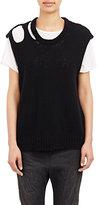 R 13 Women's Stockinette-Stitch Sweater-BLACK