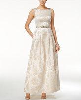 Jessica Howard Embellished Boat-Neck Gown