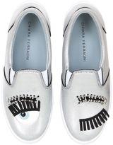 Chiara Ferragni 30mm Flirting Eyes Slip-On Sneakers