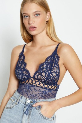 Coast V-Neck Front Detail Lace Body