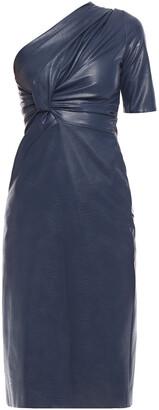 Stella McCartney Piper One-shoulder Twist-front Faux Leather Dress