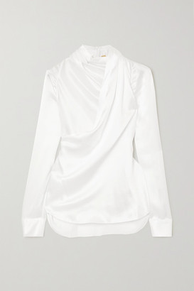 Adam Lippes Draped Silk-charmeuse Blouse - Ivory