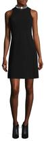 Shoshanna Embellished Halter Fit And Flare Dress
