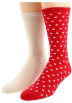 Kate Spade Spotty Dot - 2 Pack (Geranium) - Footwear