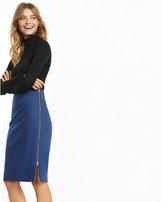 Express side zipper midi pencil skirt