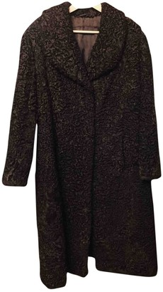 Astrakhan Non Signe / Unsigned Oversize Brown Coat for Women