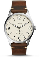 Fossil Limited Edition x Movember Two-Hand Sub-Second Dark Brown Leather Watch