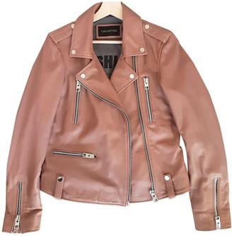 Oakwood Pink Leather Leather jackets