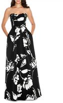 Decode 1.8 Sweetheart Floral Print Long Dress 183938