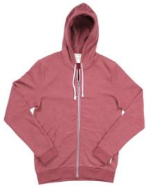 Armedangels Russet Red Melange Joe Hoody Jacket - XL - Red
