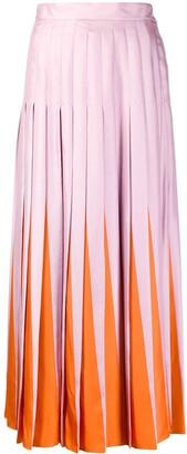 Valentino Pleated Bi-Colour Skirt