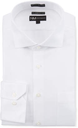 Neiman Marcus Men's Classic Fit Non-Iron Dobby Check Wrinkle-Free Dress Shirt