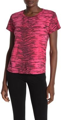 Pam And Gela Tiger Stripe Crop T-Shirt