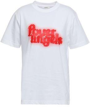 Ganni Harris Printed Cotton-jersey T-shirt