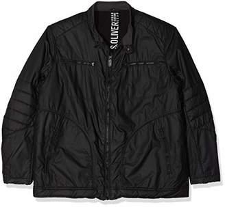 S'Oliver Big Size Men's 28.809.51.5279 Jacket, Black 9999, XXXL