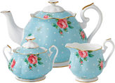 Royal Albert Polka Blue Vintage 3-pc. Teapot Set