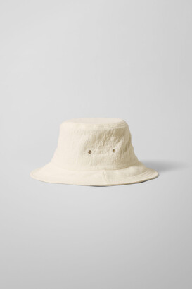 Weekday Relaxed Bucket Hat - White