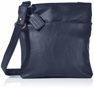 N.V. Bags Womens Nv213 Shoulder Bag Blue (Navy) 6x26x23 cm (W x H x L)