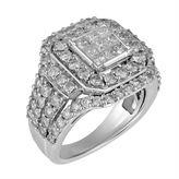 MODERN BRIDE Womens 3 CT. T.W. Princess White Diamond 10K Gold Engagement Ring