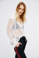 Womens LOVELY LACE BUTTONDOWN
