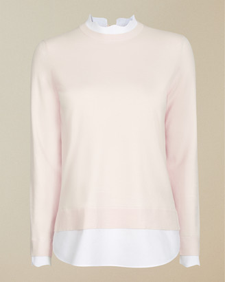 Ted Baker LLEANA Scallop neck mockable jumper