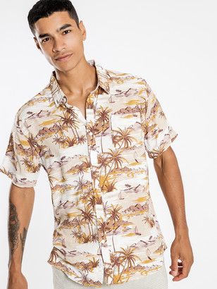 Article One Laguna Short Sleeve Shirt in Off White
