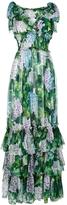 Dolce & Gabbana Hydrangea Sleeveless Gown