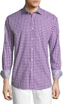 Neiman Marcus Check-Print Long-Sleeve Sport Shirt