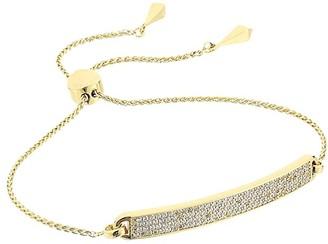 Michael Kors Precious Metal-Plated Sterling Silver Pave Slider Bracelet (Gold) Bracelet