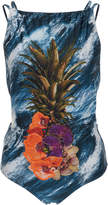 Agua de Coco Embroidered One-Piece Swimsuit
