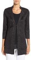 Ming Wang Women's Mandarin Collar Shimmer Knit Jacket